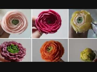 Техника создания цветов Ранункулюс. Кондитерские насадки № 122,123,118,104,103,61