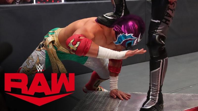 The «Kingslayer» Aleister Black Humberto Carrillo vs. Seth Rollins Murphy Raw, June 29, 2020