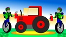Мультик про трактора и роботов. Учим цвета. Трактора для детей