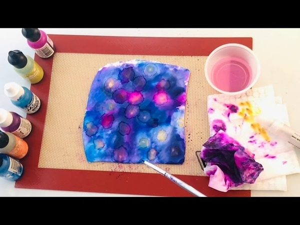 Create Colorful Alcohol Ink Silkscreened Polymer Clay Components