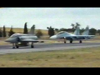 Sukhoi Su-27/30  vs Mirage 2000  114 CW Tanagra  - Greece 1997 (Better Quality)