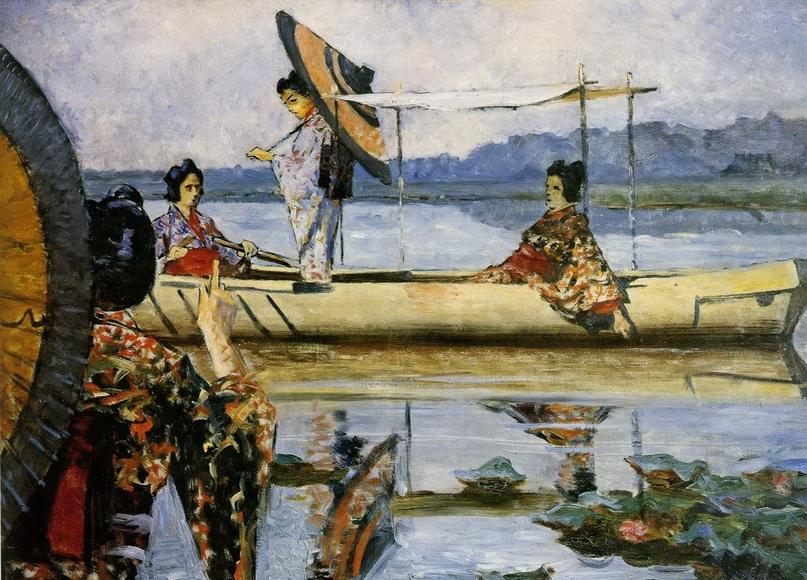 """Василий Васильевич Верещагин """"Прогулка в лодке"""", 1903"""
