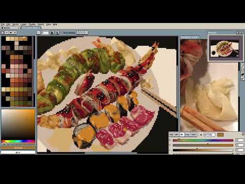 Sushi Dinner Pixel Process