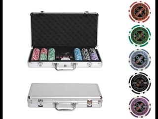 Набор для покера в металлическом кейсе Ultimate на 300 фишек