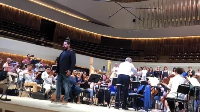 Фрагмент репетиции концерта к открытию Московского концертного зала Зарядье