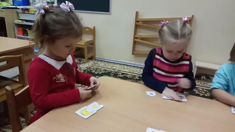 Математика. Упражнение Большой, средний, маленький. Возраст детей 3 года. Группа 2.