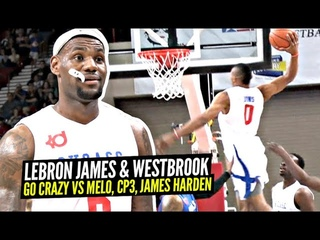 LeBron James & Russell Westbrook TEAM UP & Go DUNK CRAZY vs James Harden & Chris Paul! INSANE Game!