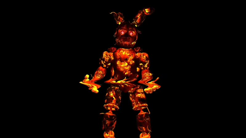 FLAMING SPRINGTRAP P3D ANIMATION