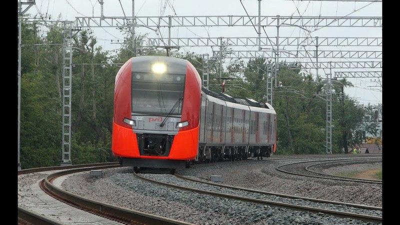 ЭС2Г 031 на перегоне Андроновка - Угрешская МЦК Московской железной дороги.