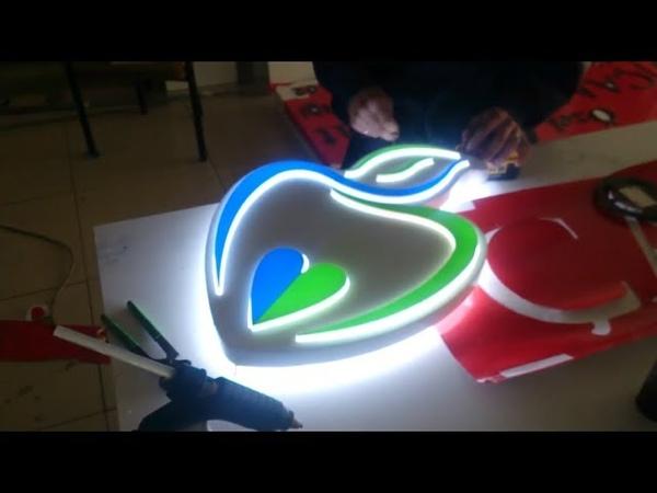 Işıklı Logo Kutu Harf Tabela Yapılışı Led Aydınlatmalı Alüminyum Oyma Pleksi Tabelası TABELA