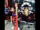 Изабелла фон Вайзенберг присед 150 кг