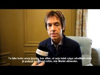 Per Gessle talking about the concert in Tallinn (18 March, )