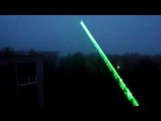 Мощная зеленая лазерная указка
