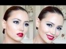 Dark Lip Ombre Grey Eyeshadow Make Up/ Vampy Halloween Look
