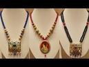 Long beaded necklace set design/beautiful kundan necklace set design ideas for kurta saree