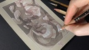 Toned Paper Drawing Process Shattered Pride
