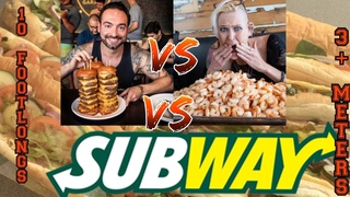 CORBUCCI EATS VS MOLLY VS 10 FEET OF SUBWAY ~ 3 METERS OF SUBWAY ~ OVER 13 LBS / 6 KGS ~ COLLAB