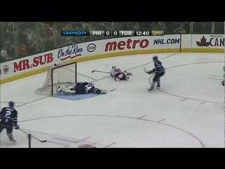 NHL Preseason: Zach Rinaldo sick airbourne goal vs Toronto - Leafs TV