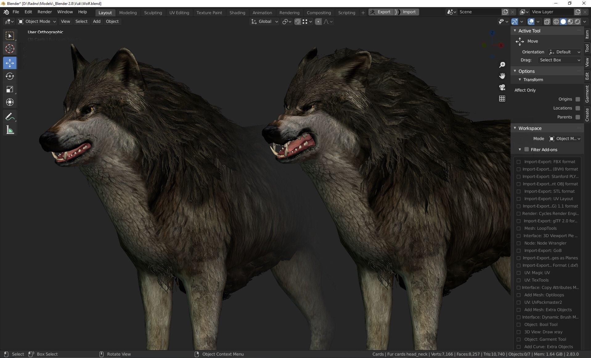 Волки. Большое количество...