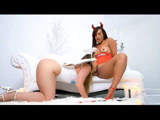 [TeamSkeet/CamSoda] Kelsi Monroe, AJ Applegate - Hellish Heaven | Lesbian Sex Big Ass Roleplay Angel Demon Tribbing Porn Порно