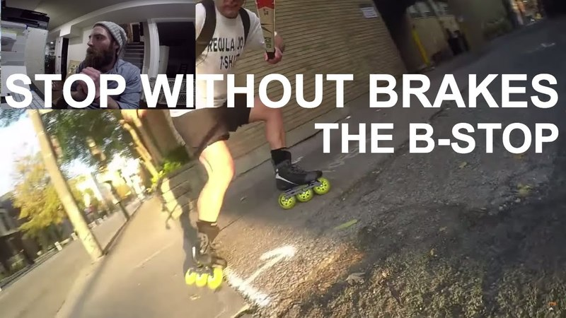 LEARN TO STOP WITHOUT HEEL BRAKES ON ROLLERBLADES Bill Stoppard Breakdown