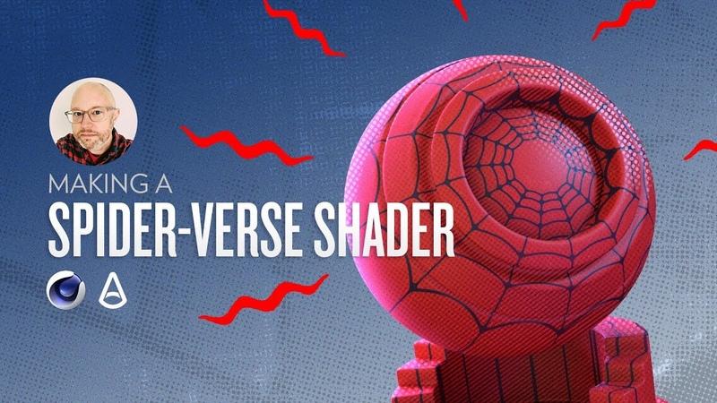 Making a Spiderverse Inspired Shader in Arnold Greyscalegorilla