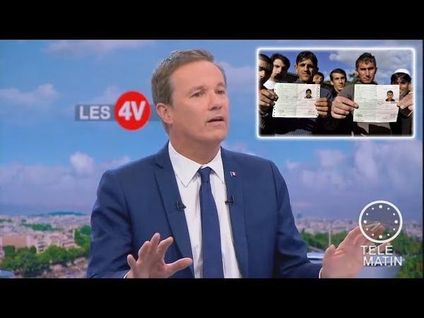 Dupont Aignan compare les demandeurs d'asile à des invités qui refusent de partir F2 03 07 18 7h