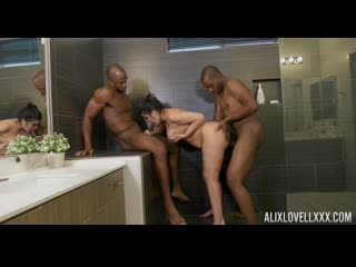 Alix Lovell - In Interracial Big Cock Bath Party!