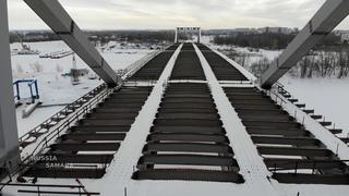 Строительство Фрунзенского моста г.Самара / construction of the bridge in Samara