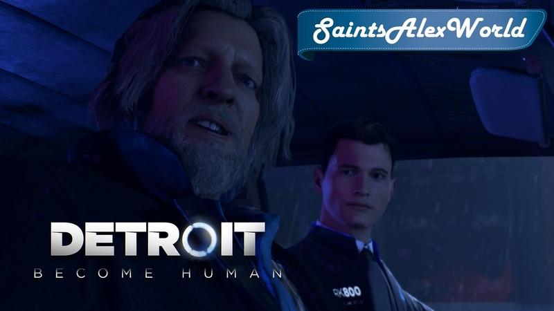 Detroit Become Human PC Японская озвучка Japanese Dub 10 Уважение Иерихона и драка в клубе