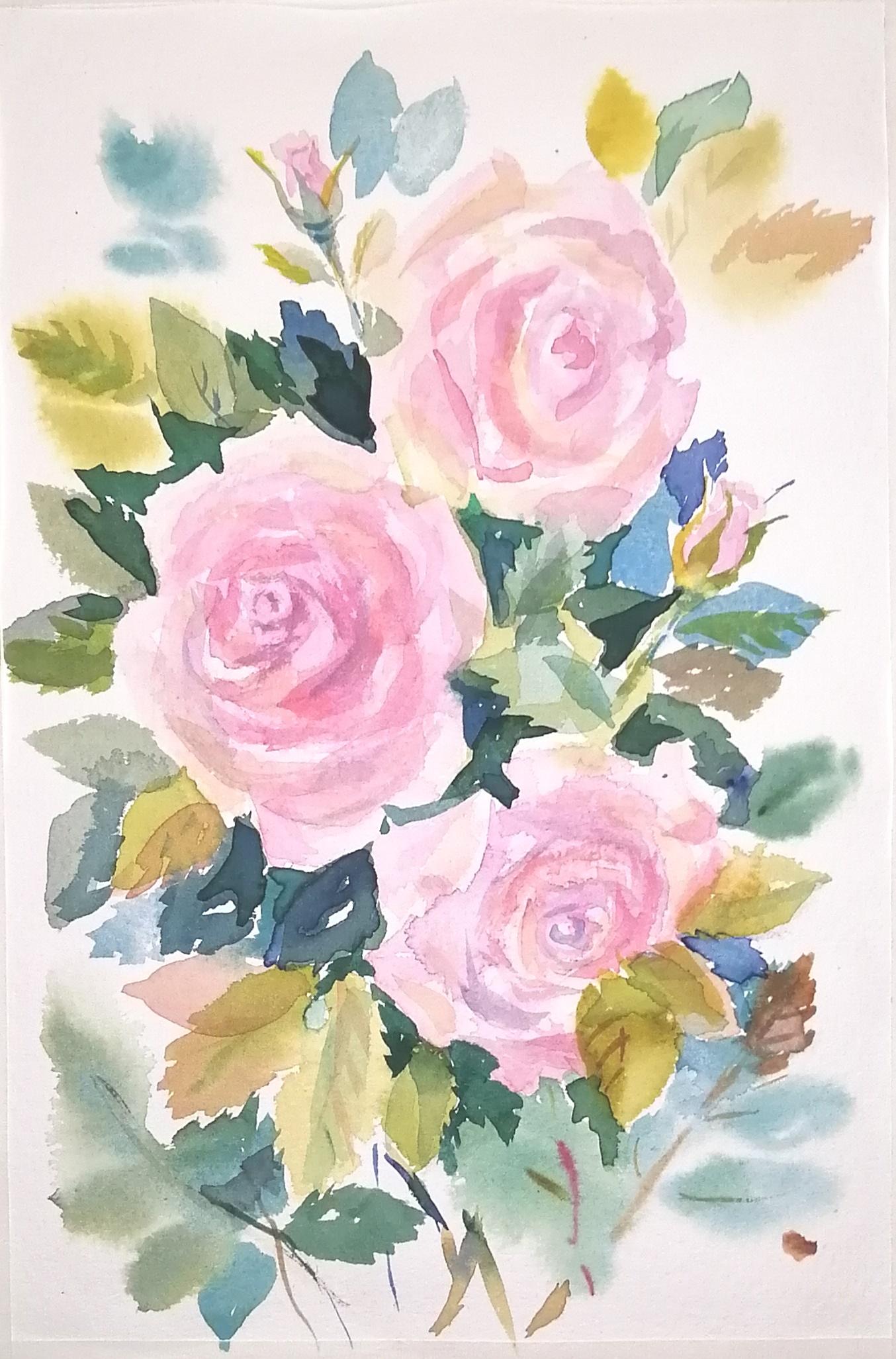 ОНЛАЙН-УРОК по рисованию «Дикая роза», изображение №12