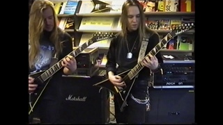 Roope Latvala and Alexi Laiho guitar clinic in Lahti, March 2001