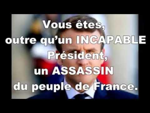 Courrier adressé au président monsieur Emmanuel MACRON