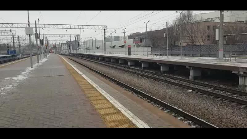 Прибытие поезда Россия на Ярославский вокзал Автор видео Владимир Пальцев