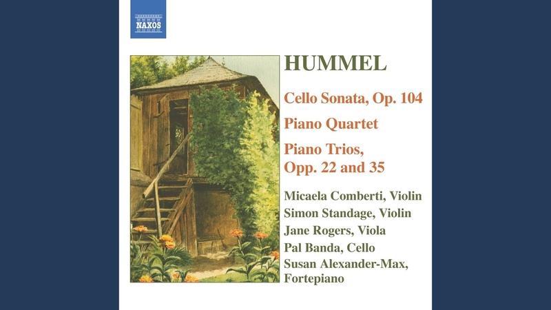 Cello Sonata in A Major Op 104 I Allegro amabile e grazioso