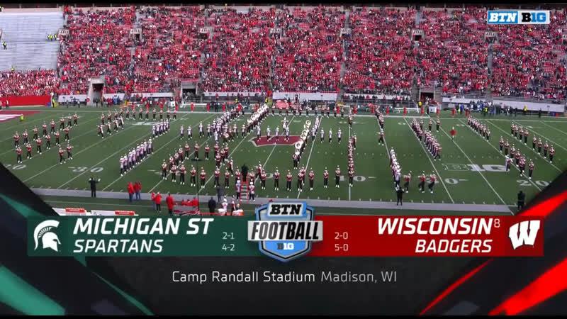 NCAAF 2019 / Week 07 / Michigan State Spartans - (8) Wisconsin Badgers / 2H / EN