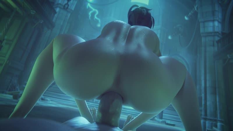 3DSmut Brigitte Halloween Porn Порно Hentai Хентай Sex Секс Rule34 Правило34