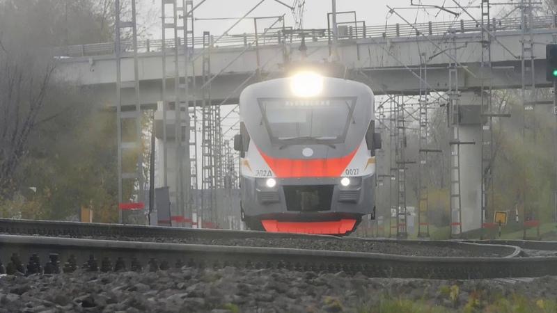 Электропоезд ЭП2Д 0027 ЦППК сообщением Нахабино Львовская