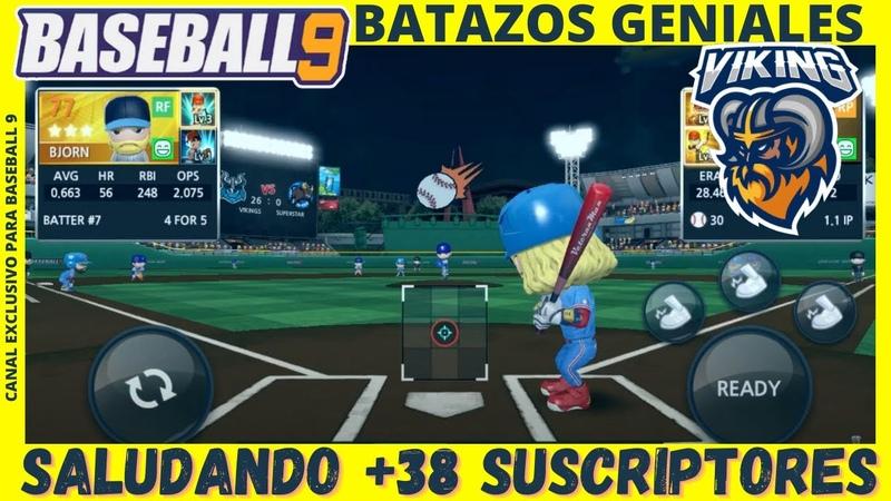 🔴 BASEBALL 9 BATAZOS GENIALES VIKINGS GAMEPLAY EN ESPAÑOL TRUCOS RECOMENDACIONES TIPS Y TUTORIALES
