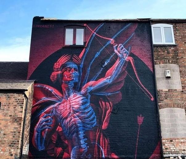 3D граффити от уличного художника Insane 51 Молодой греческий художник Статис Тсавалиас (Stathis Tsavalias), также известный под псевдонимом Insane 51, начал карьеру уличного художника в 2007
