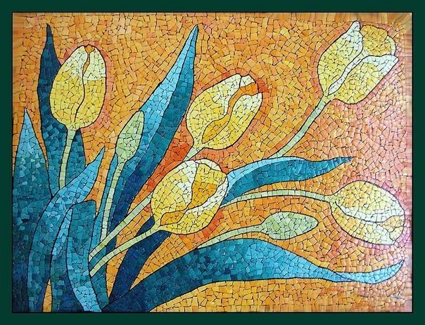 Картины из яичной скорлупы от Любови Мешакиной