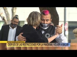 Volver a bailar tango en Buenos Aires despues de restricciones. Tango en la TV Buena Onda Canal 13