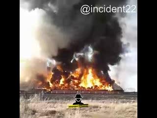 Крупный пожар произошел сегодня, 22 апреля, в селе Шипуново (Инцидент Барнаул)