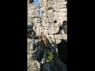 """На вершине скалы """"Три брата"""". Национальный парк Таганай."""
