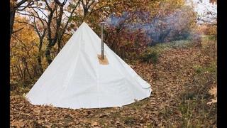 ⛺️ Yeni çadırımı deniyorum 🏕 200 ₺ Çadır diktirdim!