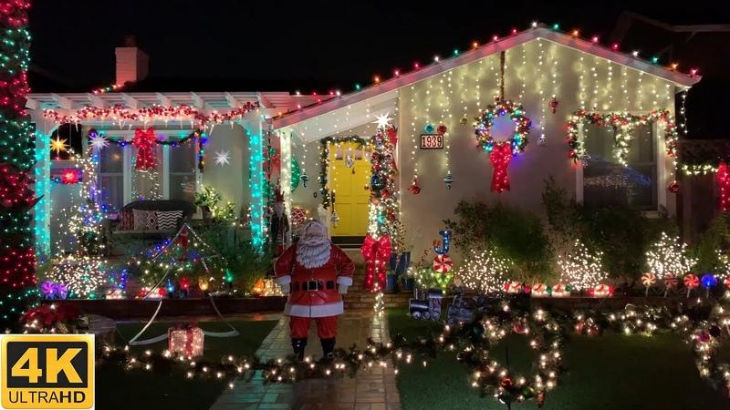V4 Как наряжают дома на рождество в америке