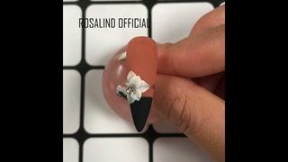 Retro Polygel Nails 3D Flower Sculpture Carved Gel Romantic Nail Art Tutorial