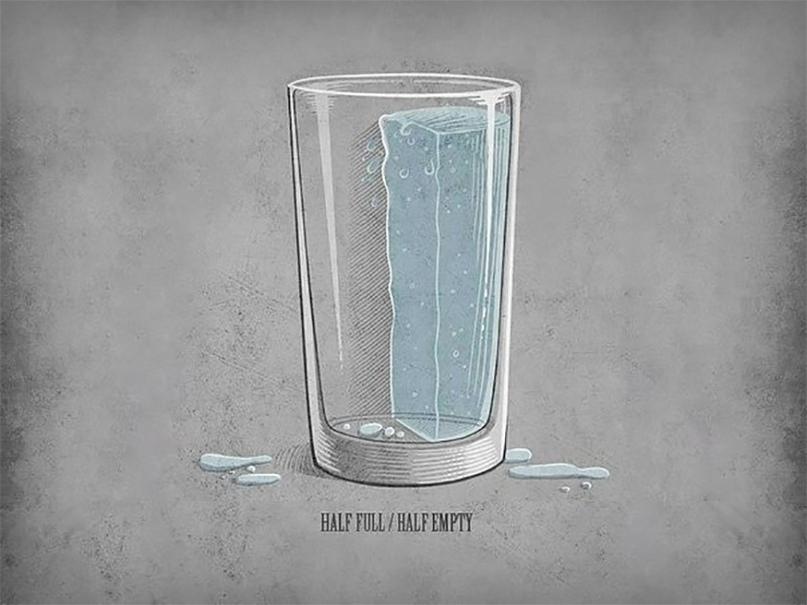 1. Буддизм: стакана на самом деле нет.