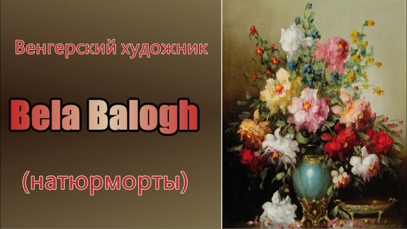 Венгерский художник Bela Balogh. Натюрморты. Цветы