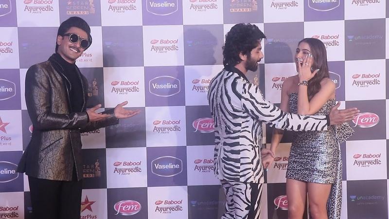 Ranveer Singh Ne Aaag Laga Dala 🔥🔥🔥 Masti With Shahid And Sara Star Screen Awards 2019